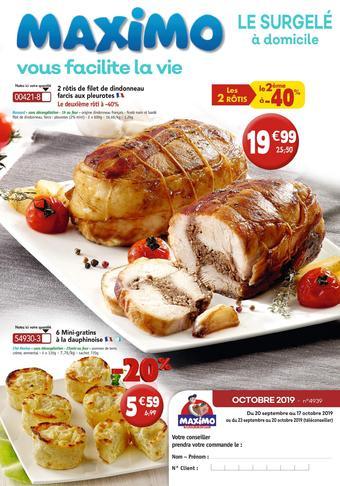 Maximo catalogue publicitaire (valable jusqu'au 17-10)