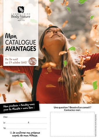 Body Nature catalogue publicitaire (valable jusqu'au 27-10)