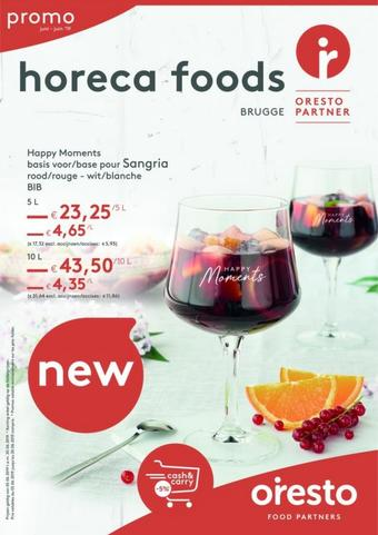 Horeca Foods reclame folder (geldig t/m 31-08)