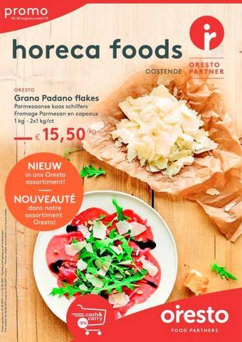 Horeca Foods reclame folder (geldig t/m 30-09)
