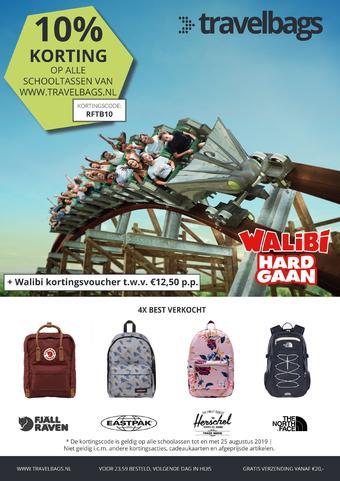 Travelbags reclame folder (geldig t/m 25-08)
