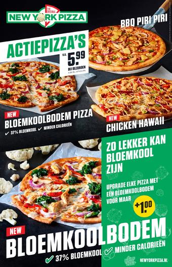 New York Pizza reclame folder (geldig t/m 31-10)