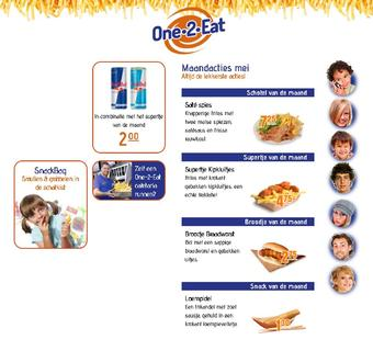 One 2 Eat reclame folder (geldig t/m 30-06)