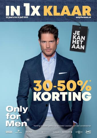 Only for Men reclame folder (geldig t/m 21-07)