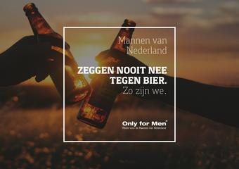 Only for Men reclame folder (geldig t/m 30-09)