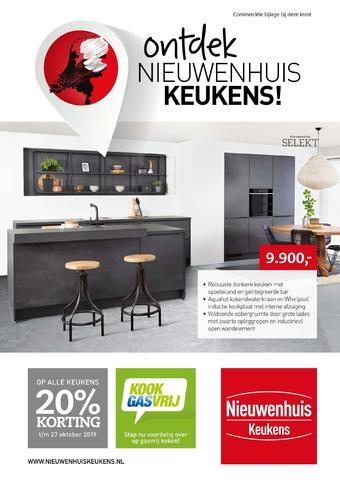 Nieuwenhuis Keukens reclame folder (geldig t/m 27-10)