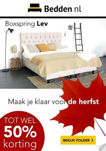 Bedden.nl reclame folder (geldig t/m 27-10)