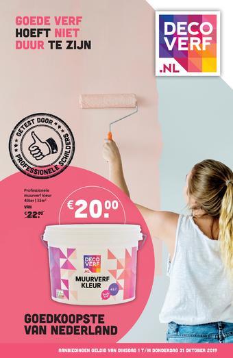 Decoverf.nl reclame folder (geldig t/m 31-10)