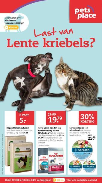 Pets Place reclame folder (geldig t/m 26-05)