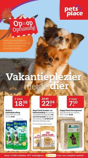 Pets Place reclame folder (geldig t/m 28-07)