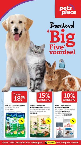 Pets Place reclame folder (geldig t/m 03-11)
