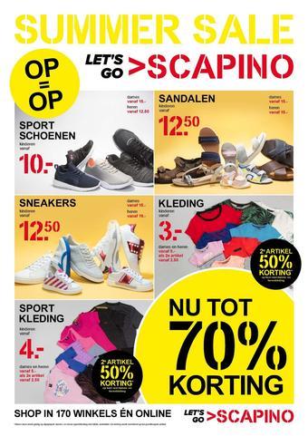 Scapino reclame folder (geldig t/m 21-07)