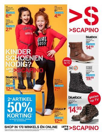 Scapino reclame folder (geldig t/m 08-09)
