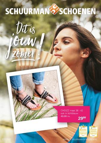 Schuurman Schoenen reclame folder (geldig t/m 09-08)