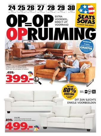 Seats and Sofas reclame folder (geldig t/m 30-06)