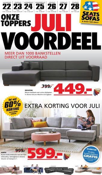 Seats and Sofas reclame folder (geldig t/m 28-07)