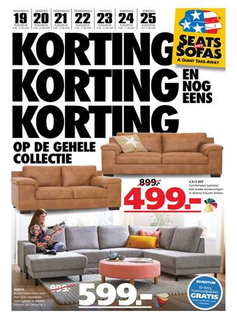 Seats and Sofas reclame folder (geldig t/m 25-08)
