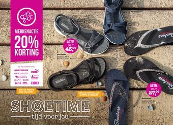 Shoetime reclame folder (geldig t/m 25-08)