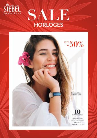 Siebel juwelier reclame folder (geldig t/m 18-08)