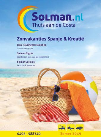 Solmar Busreizen reclame folder (geldig t/m 31-08)