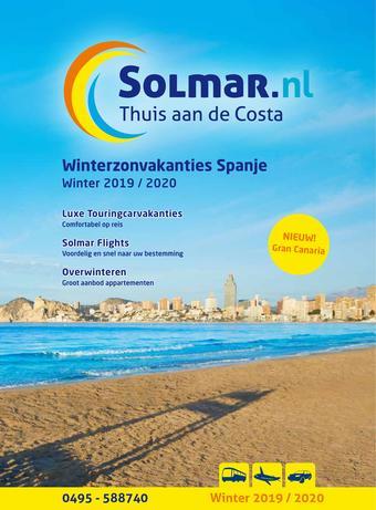 Solmar Busreizen reclame folder (geldig t/m 29-02)