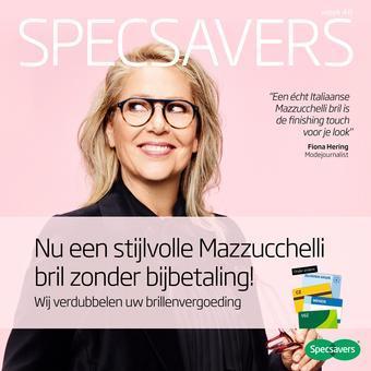 Specsavers reclame folder (geldig t/m 31-10)