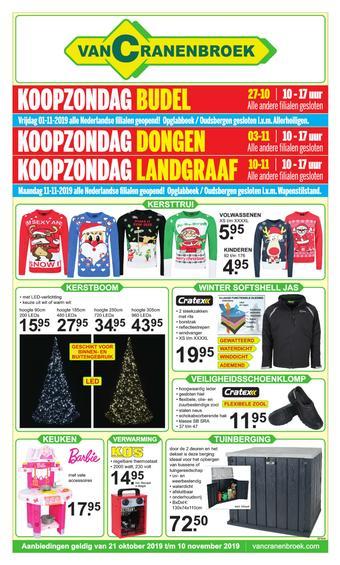 Van Cranenbroek reclame folder (geldig t/m 10-11)