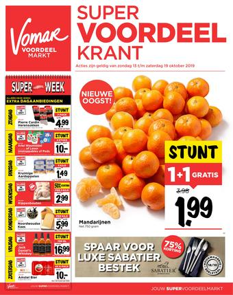 Vomar reclame folder (geldig t/m 19-10)