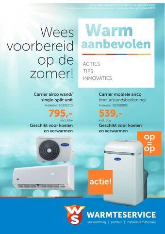 Warmteservice reclame folder (geldig t/m 31-10)