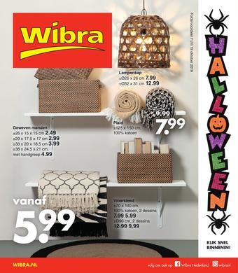 Wibra reclame folder (geldig t/m 19-10)