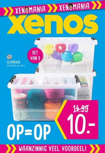 Xenos reclame folder (geldig t/m 08-09)