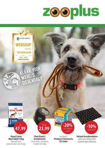 Zooplus reclame folder (geldig t/m 31-10)