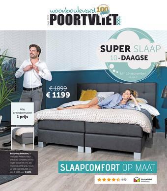 Woonboulevard Poortvliet reclame folder (geldig t/m 19-09)