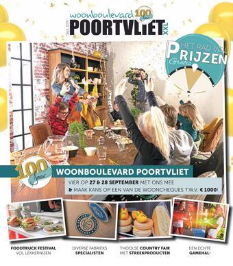 Woonboulevard Poortvliet reclame folder (geldig t/m 28-09)