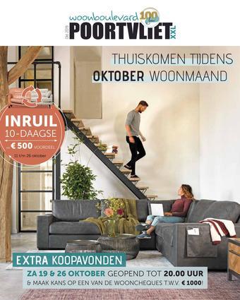 Woonboulevard Poortvliet reclame folder (geldig t/m 26-10)