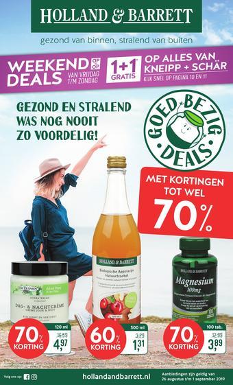 Holland & Barrett reclame folder (geldig t/m 01-09)