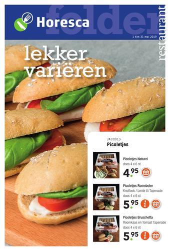 Horesca reclame folder (geldig t/m 31-05)