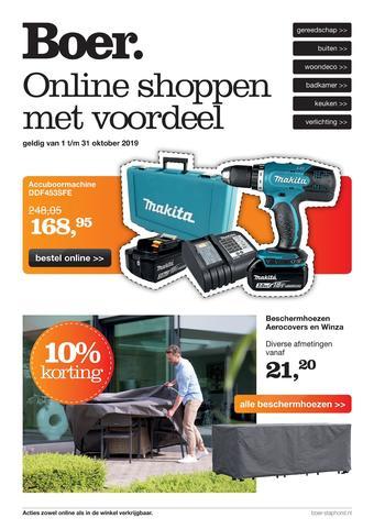 Boer Staphorst reclame folder (geldig t/m 31-10)