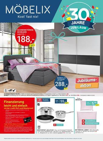 Möbelix Werbeflugblatt (bis einschl. 27-08)