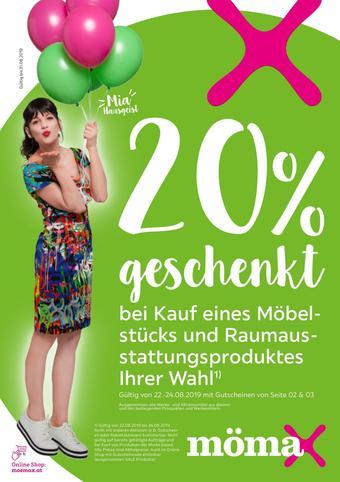 Mömax Werbeflugblatt (bis einschl. 31-08)