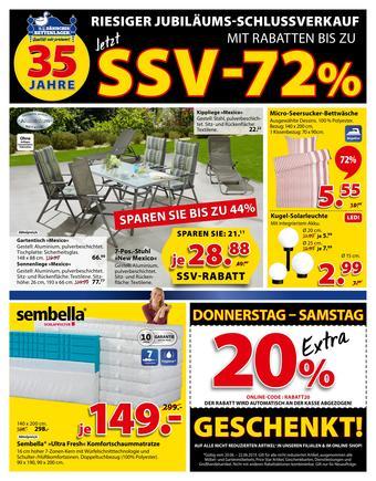 Dänisches Bettenlager Werbeflugblatt (bis einschl. 23-06)
