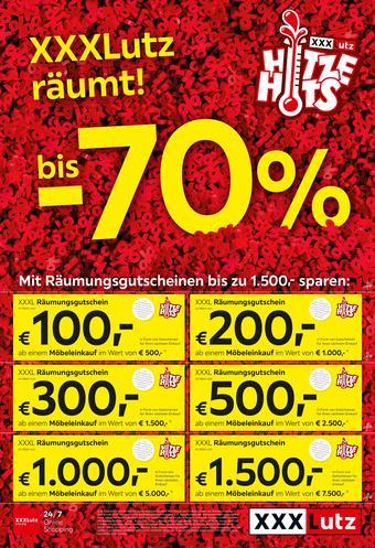 XXXLutz Werbeflugblatt (bis einschl. 16-07)