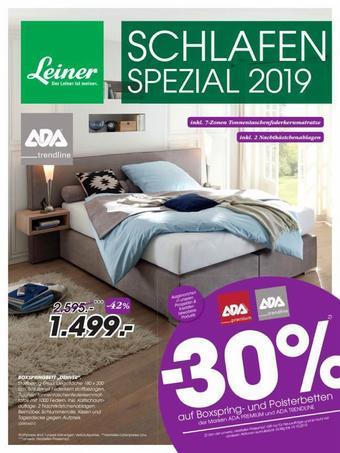 Leiner Werbeflugblatt (bis einschl. 14-10)