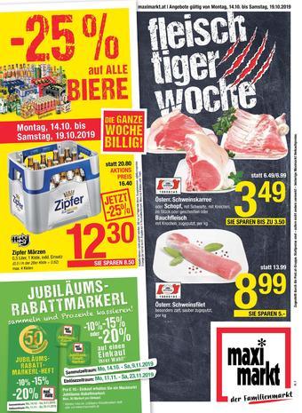 Maximarkt Werbeflugblatt (bis einschl. 19-10)