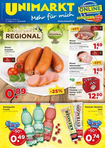 Unimarkt Werbeflugblatt (bis einschl. 20-08)