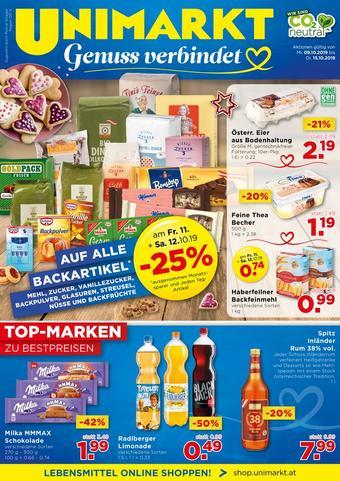 Unimarkt Werbeflugblatt (bis einschl. 15-10)