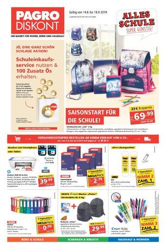 Pagro-Diskont Werbeflugblatt (bis einschl. 18-09)