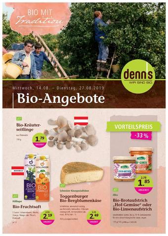 Denn's Biomarkt Werbeflugblatt (bis einschl. 27-08)