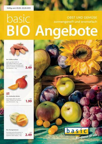 Basic Biomarkt Werbeflugblatt (bis einschl. 25-09)
