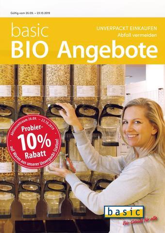 Basic Biomarkt Werbeflugblatt (bis einschl. 22-10)